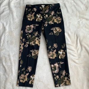 NWT J. Crew Floral Ankle Pants